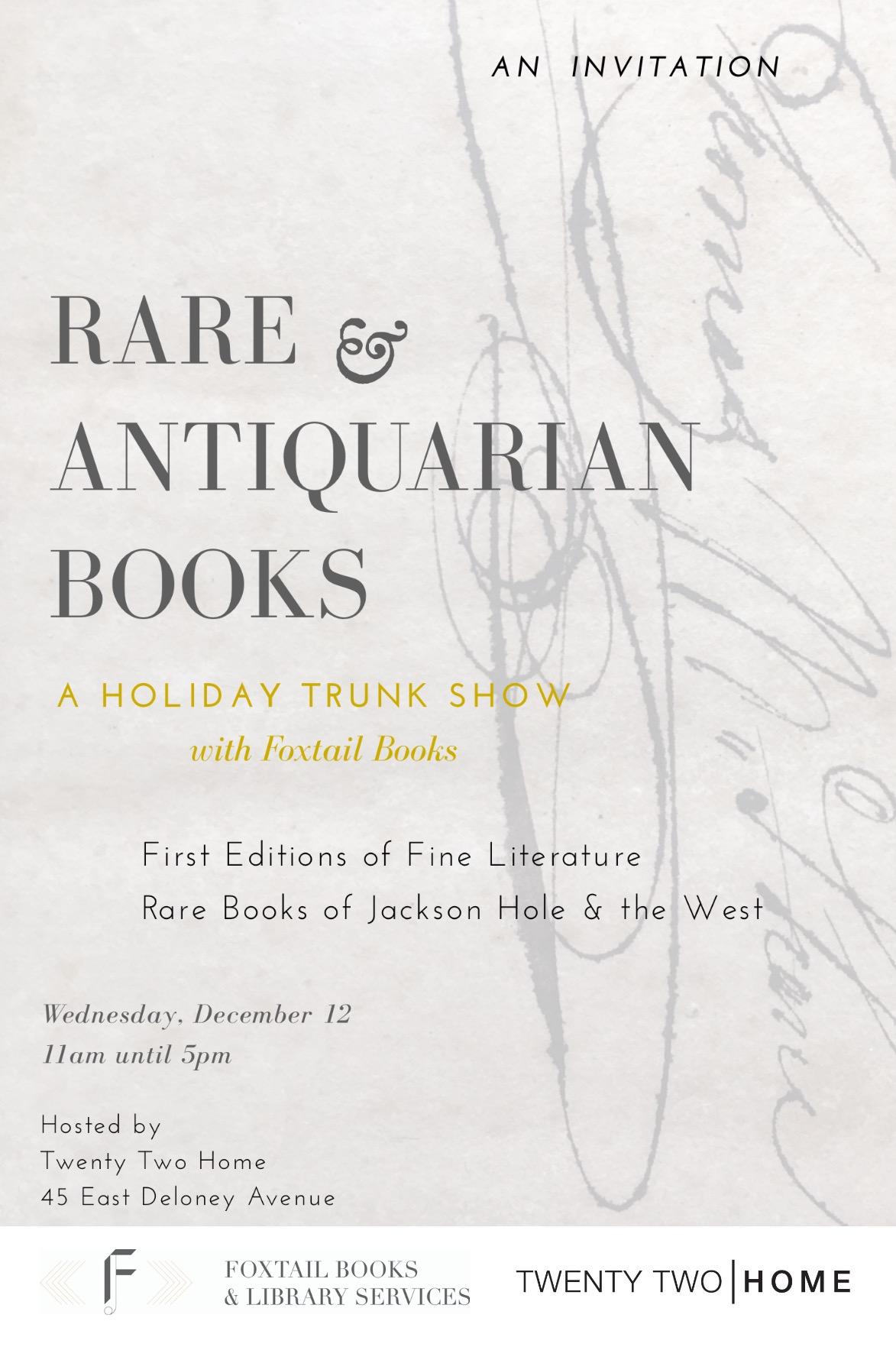 Jackson hole rare books