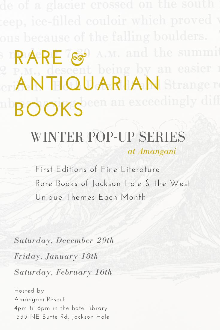amangani rare books trunk show