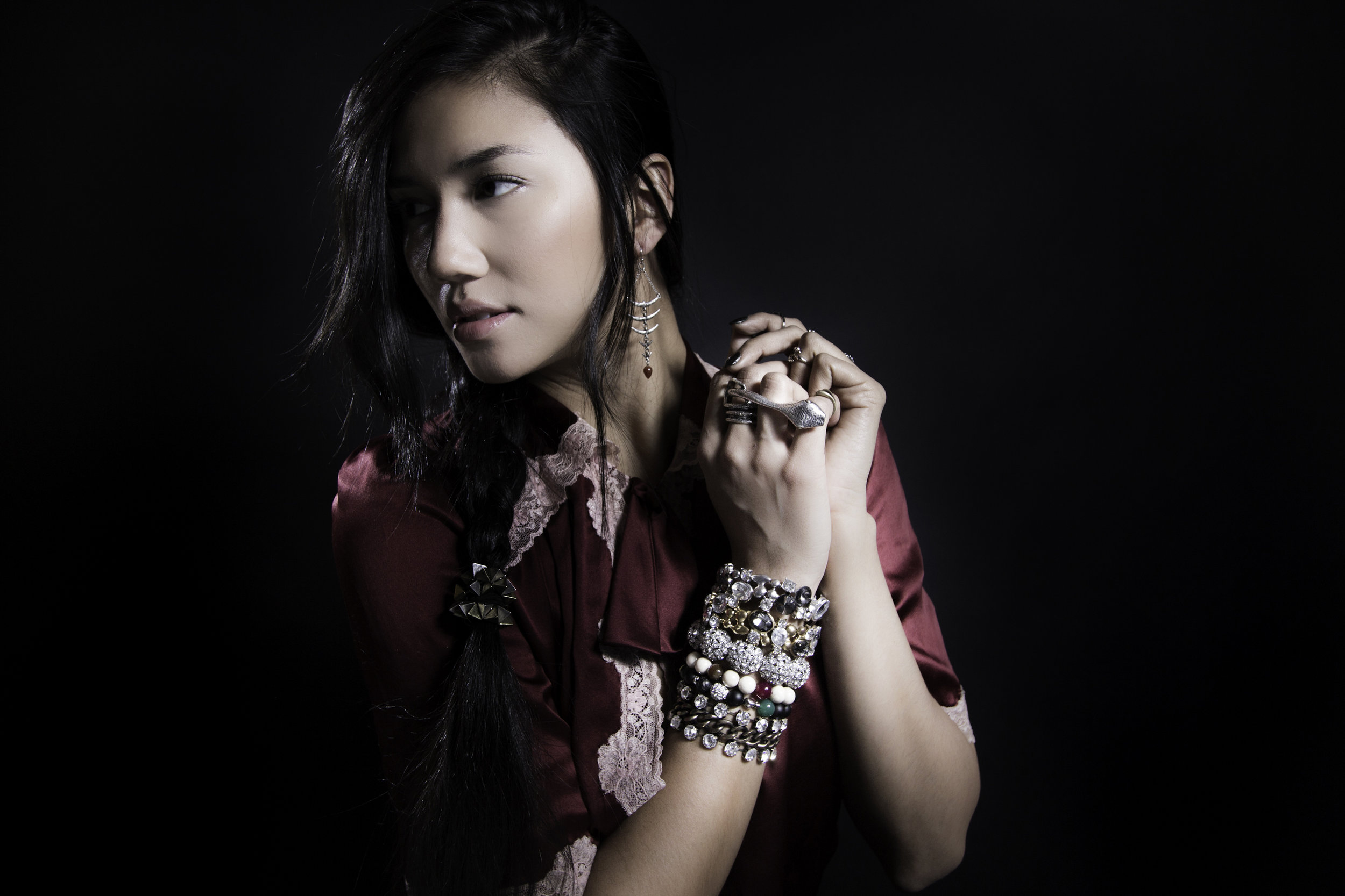 Samantha Rex for AMY O. Jewelry's Rocker Edge Collection