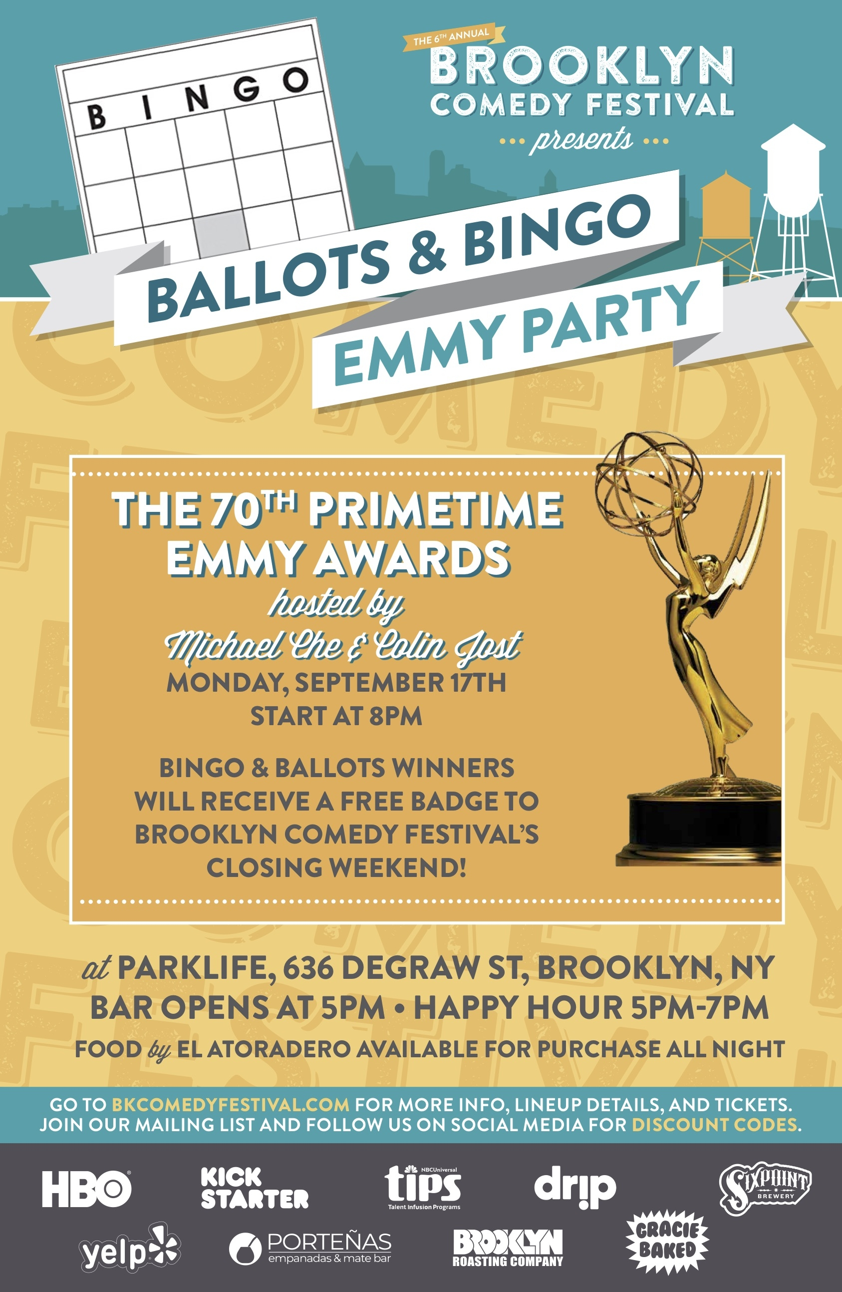 Brooklyn Comedy Festival's Emmy Ballots & Bingo Party