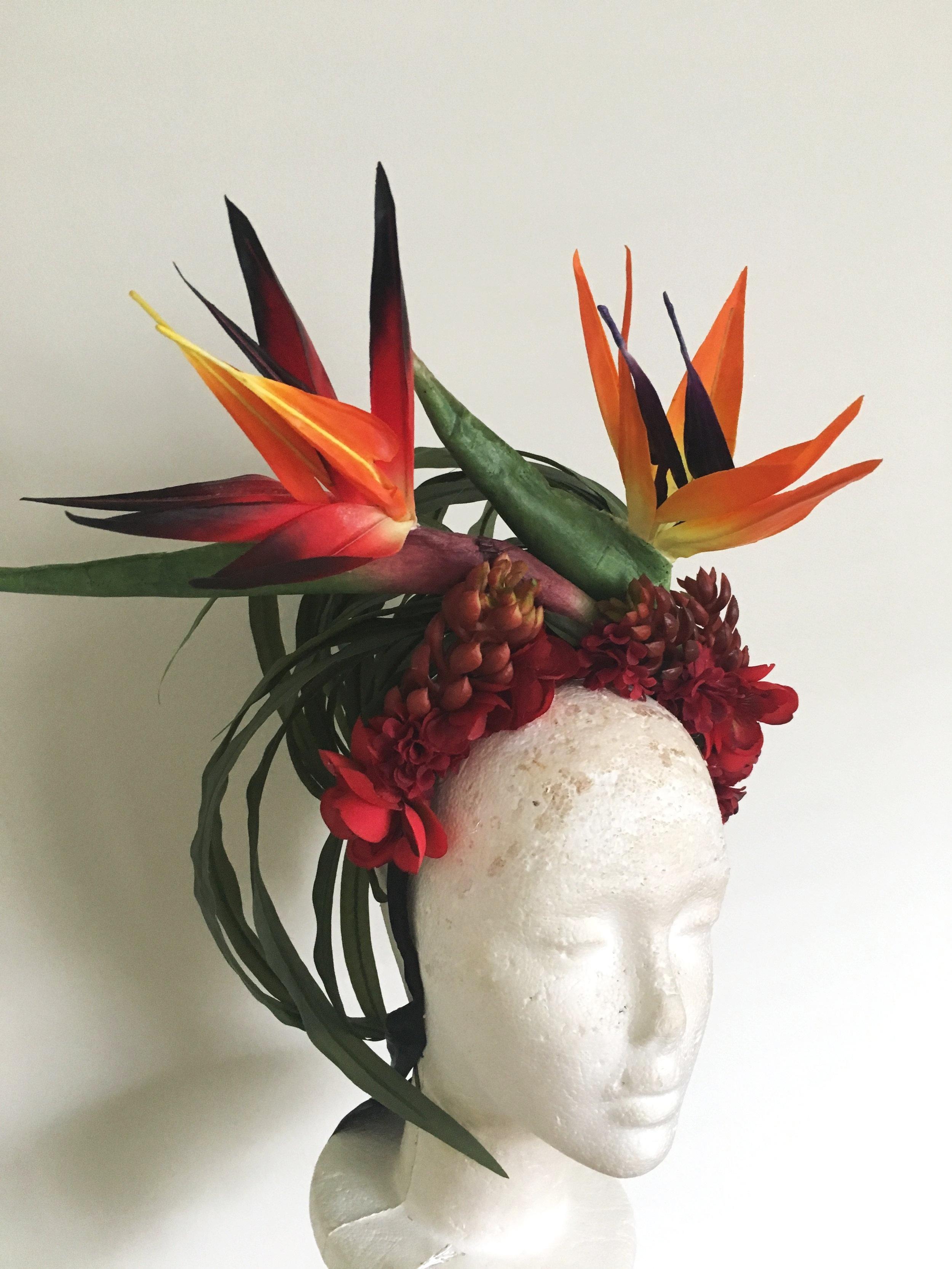 Hawaiian floral headdress