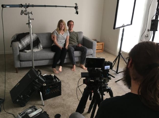 Eric & Sadie enjoying their Legacy Interview.