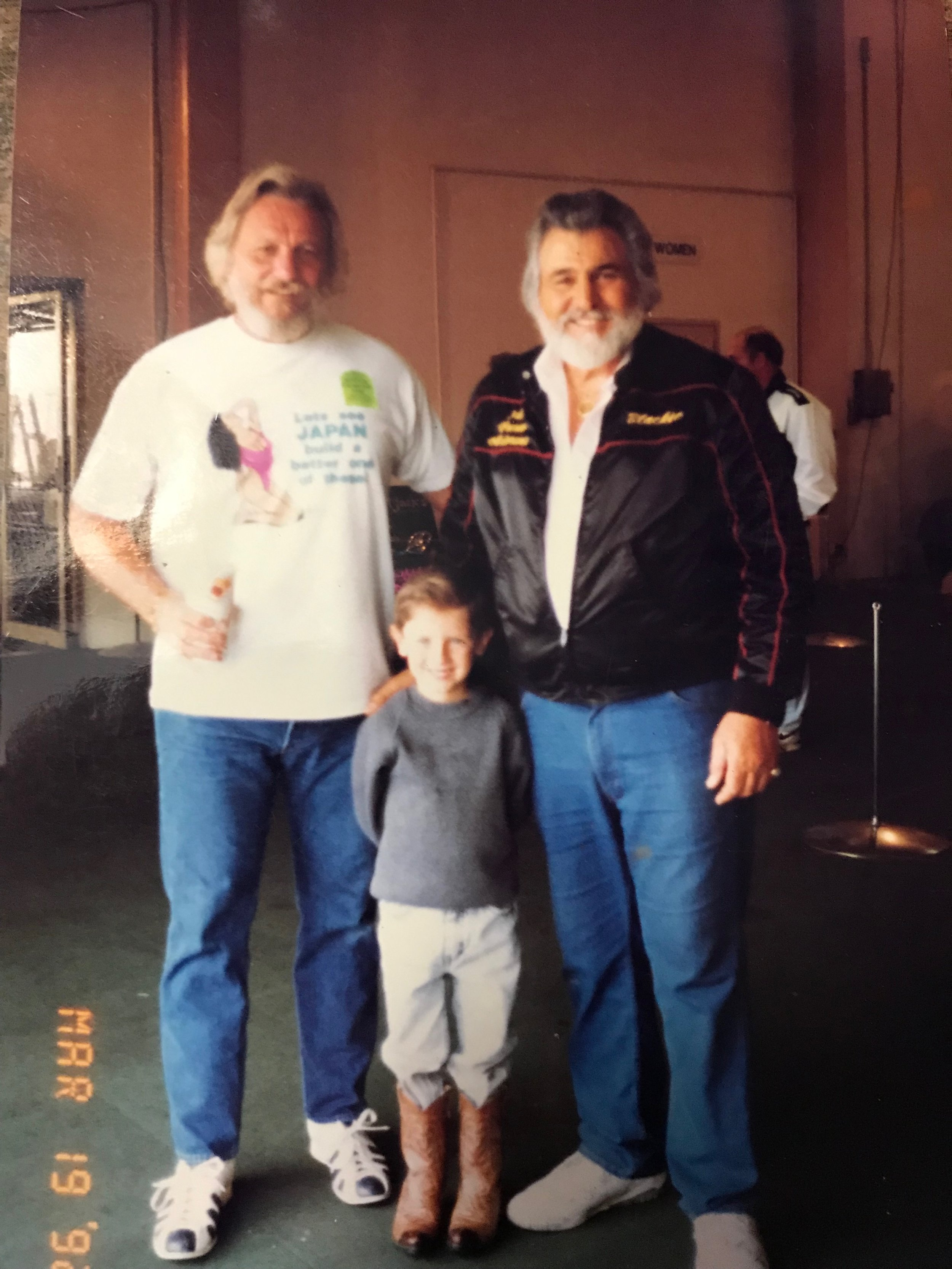 Shawn with his dad Mike and Blackie Gejeian at Frezno Autorama