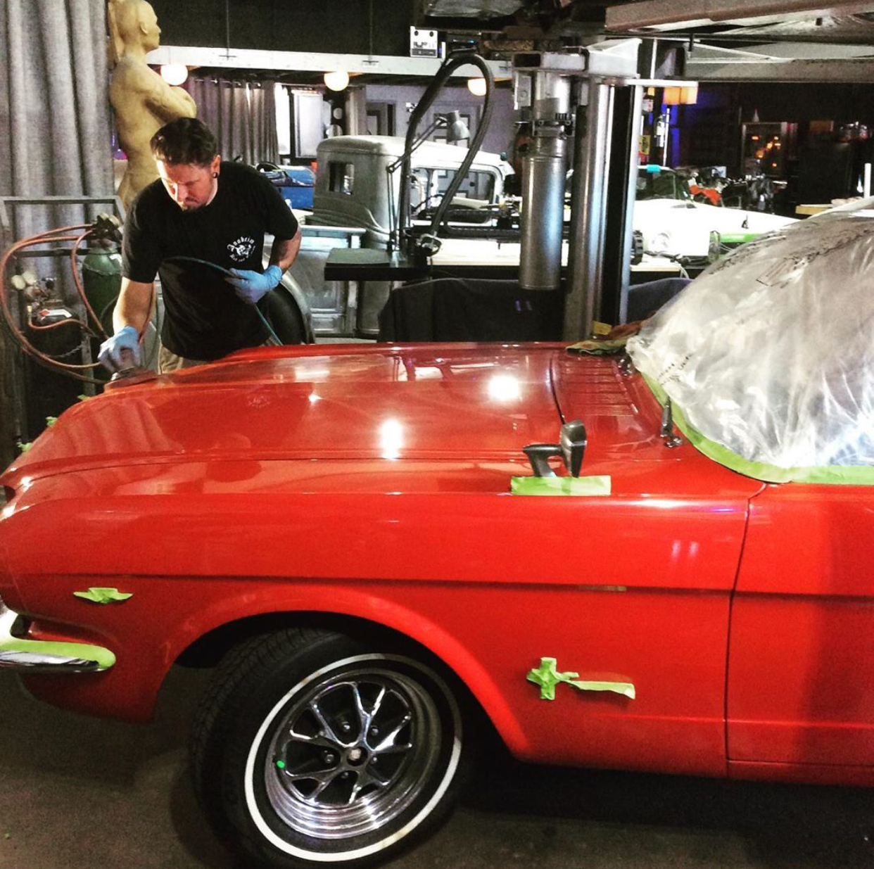 Shawn color sanding on this 1965 Mustang!