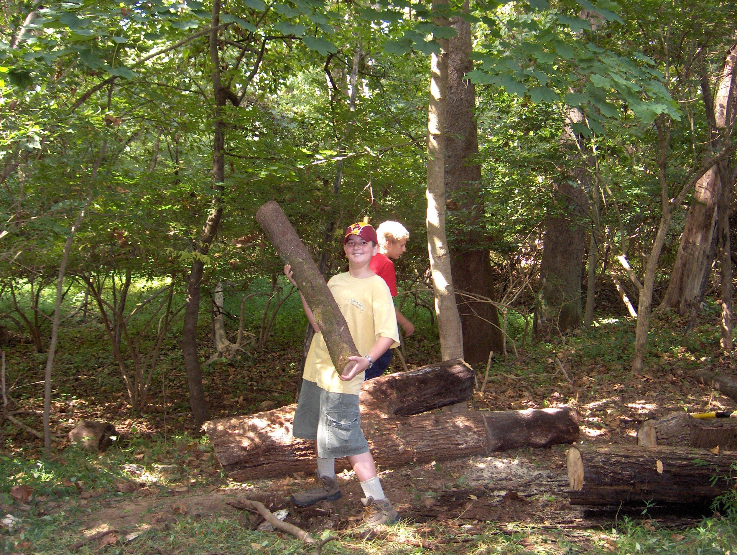 Devon 50 Scouts - Cedar Hollow Trail Clearing.JPG