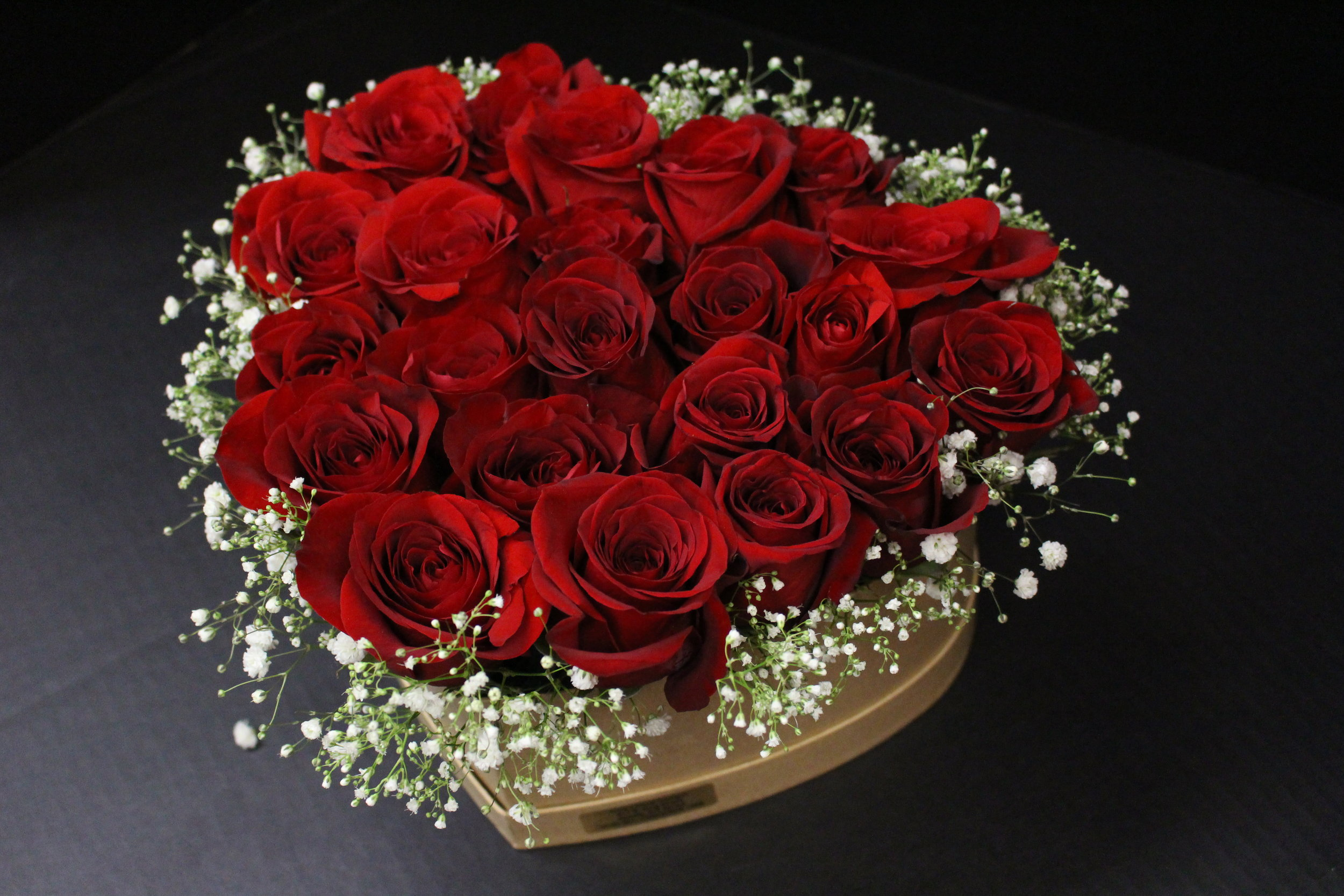 Heart Shaped Rose Box