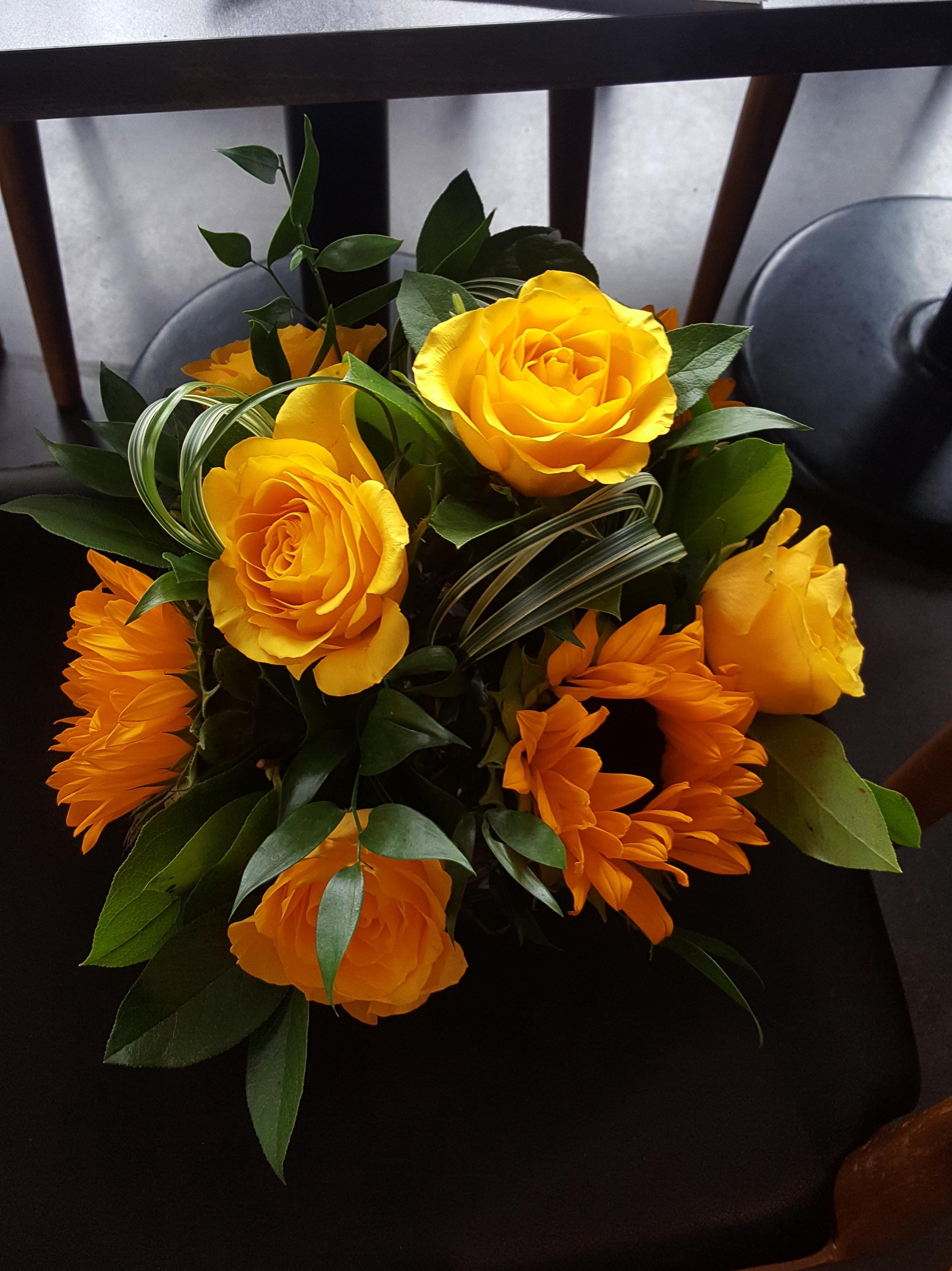 Sunflower & Roses