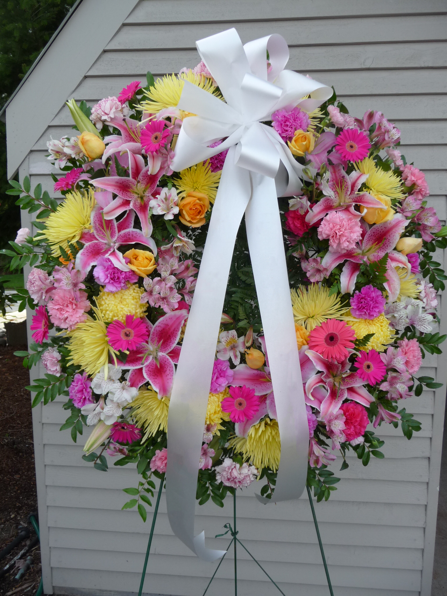 Yellow & Pink Wreath (W-2)
