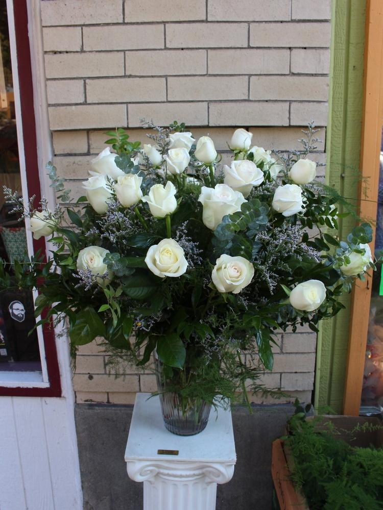 3 Dozen Long Stem White Roses