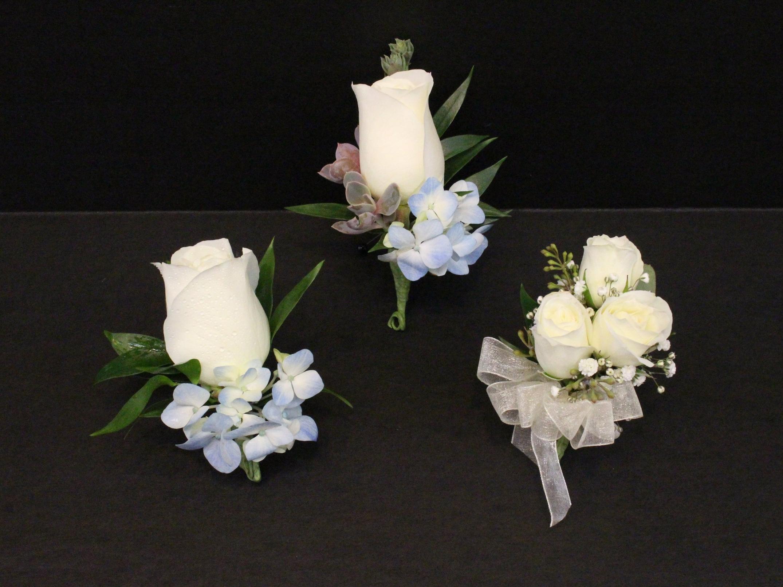 White Roses & Blue