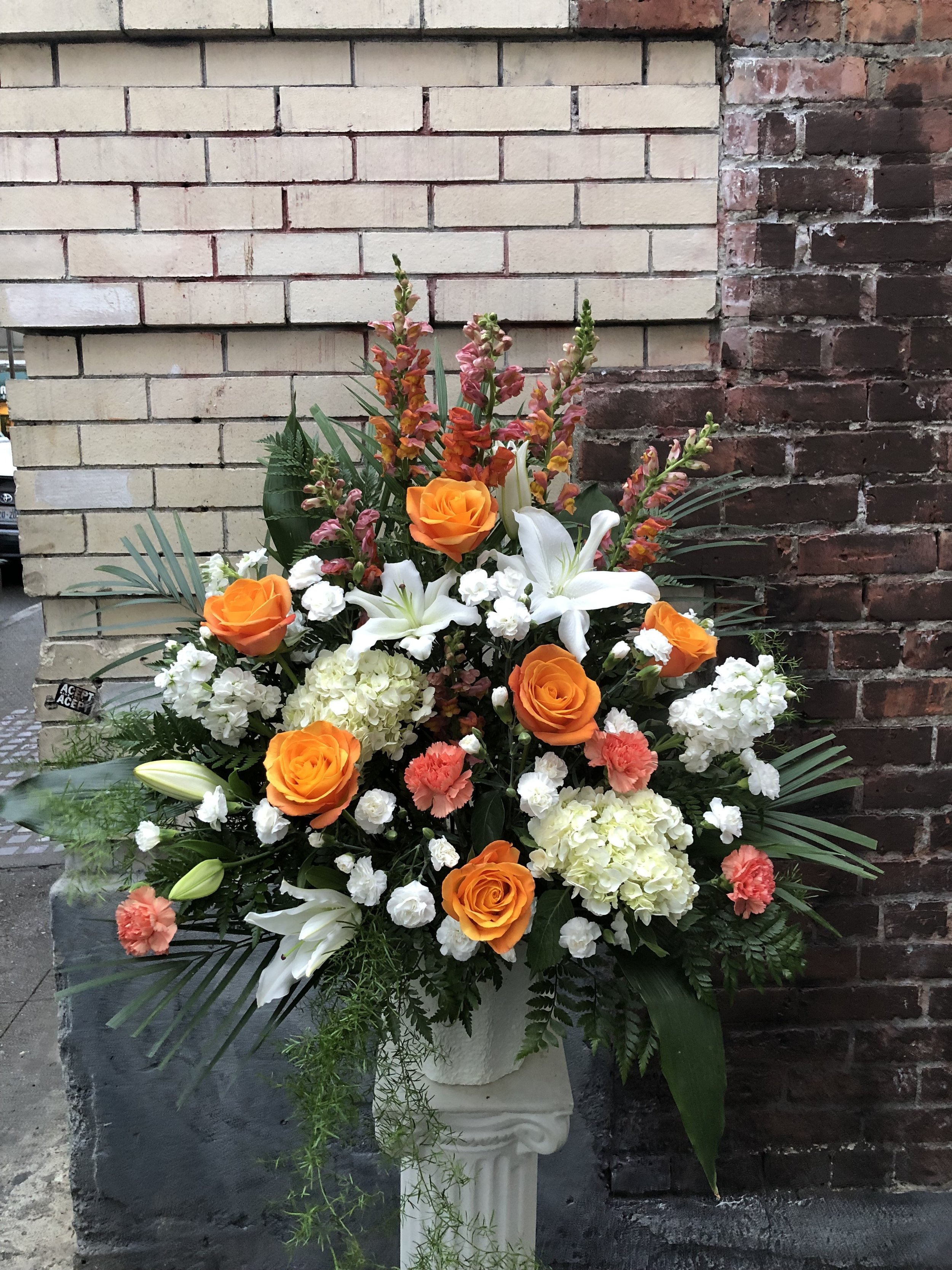Orange & White Basket (FB-44)
