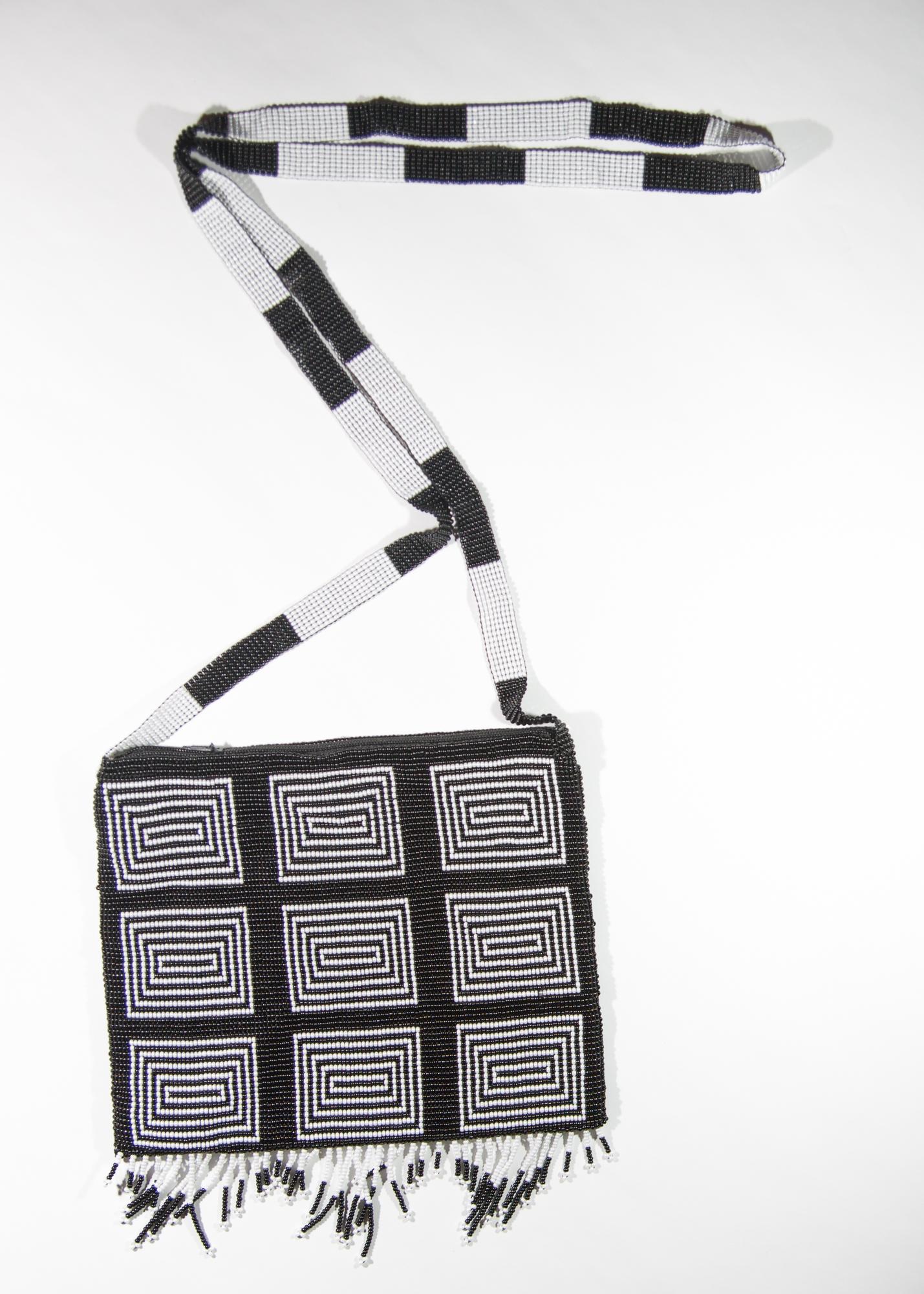 Black and White blocks purse  $49.00