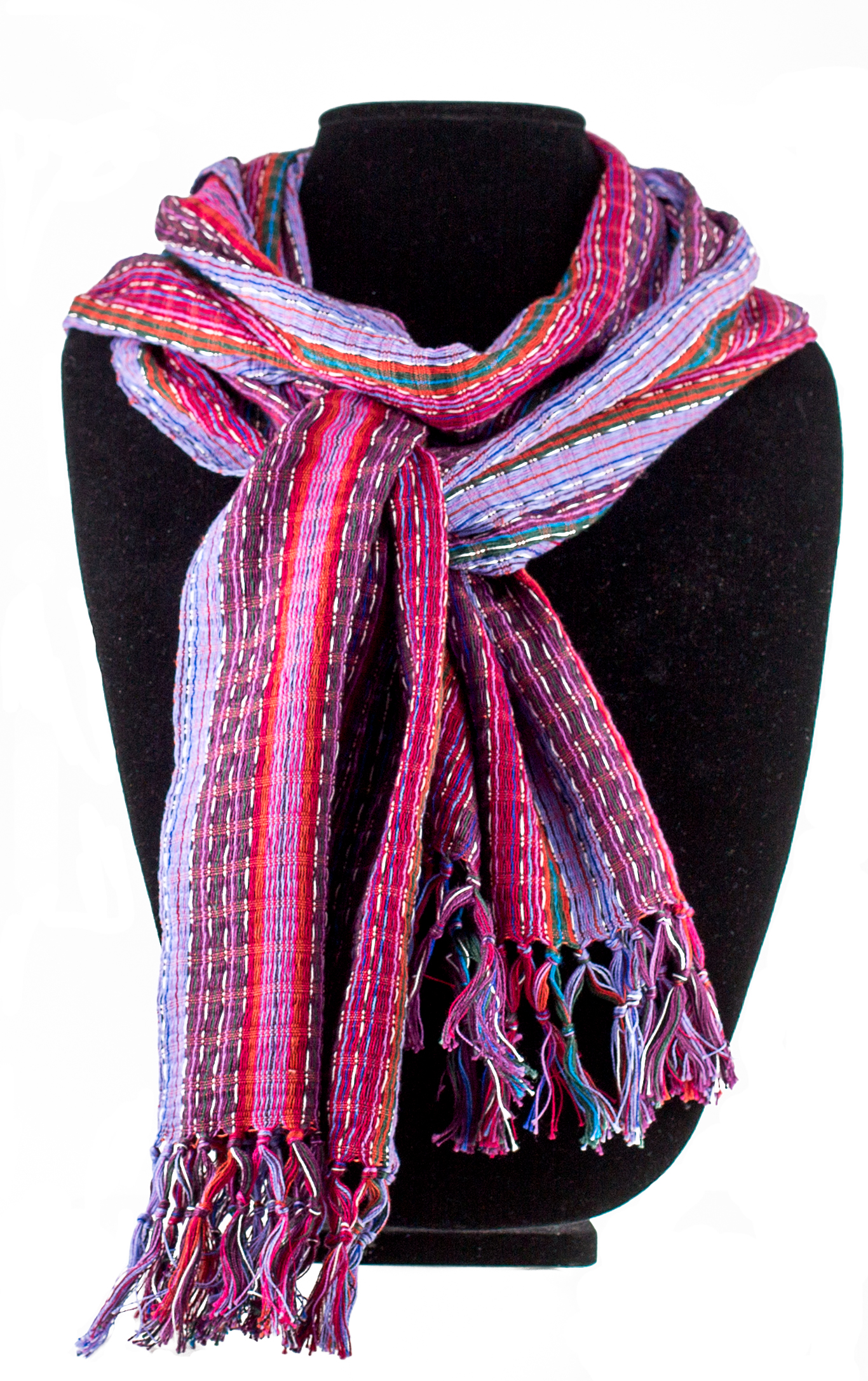 Purples and reds cotton scarf     $19.00