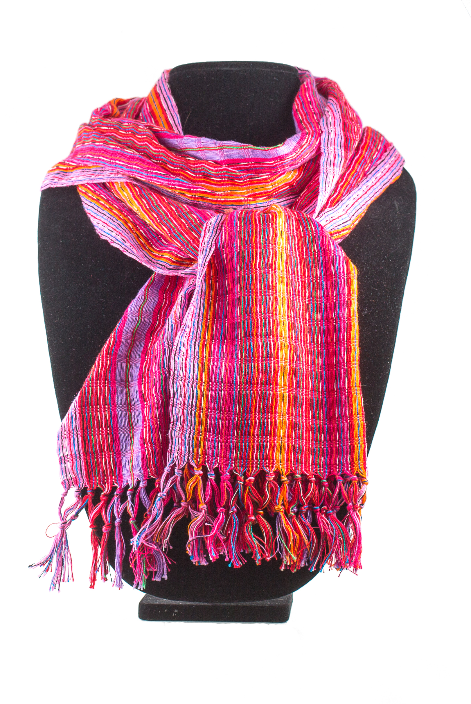 oranges and pinks cotton scarf     $19.00