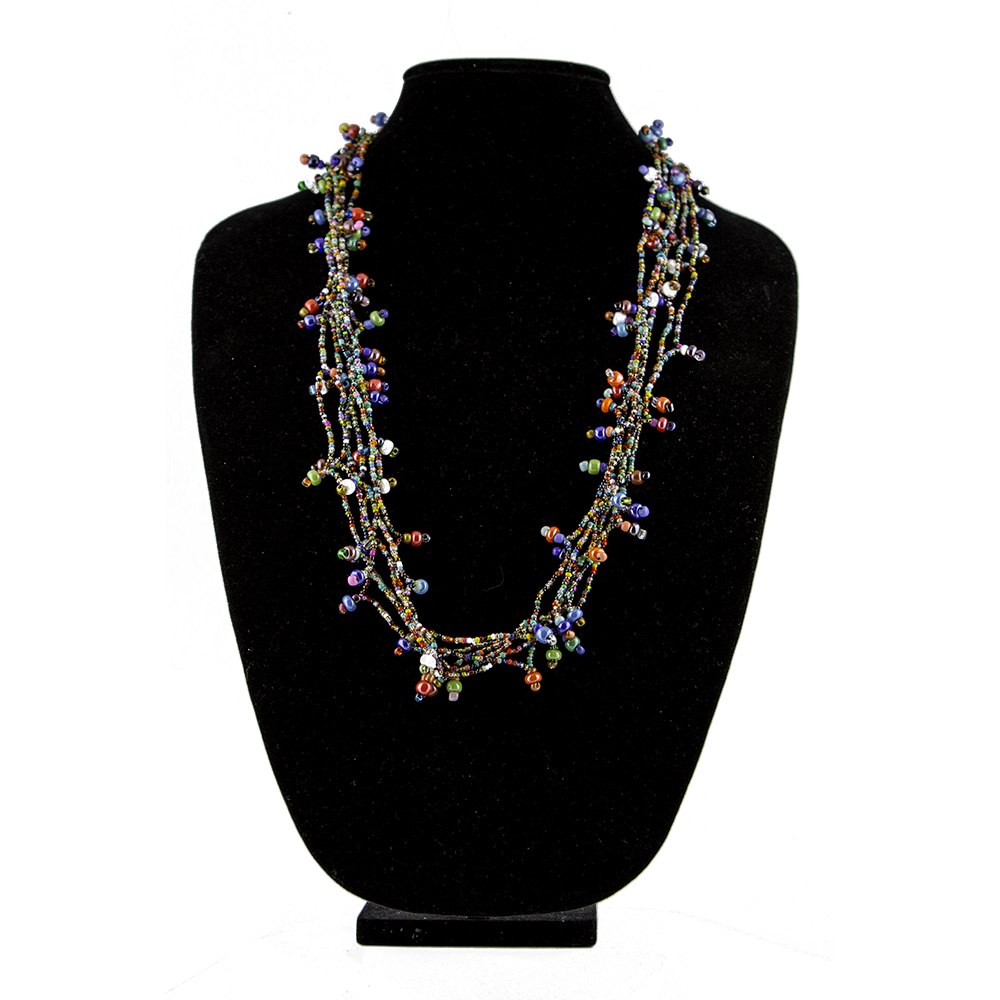 """20"""" Multi-Colored Beaded Necklace   $25.00"""