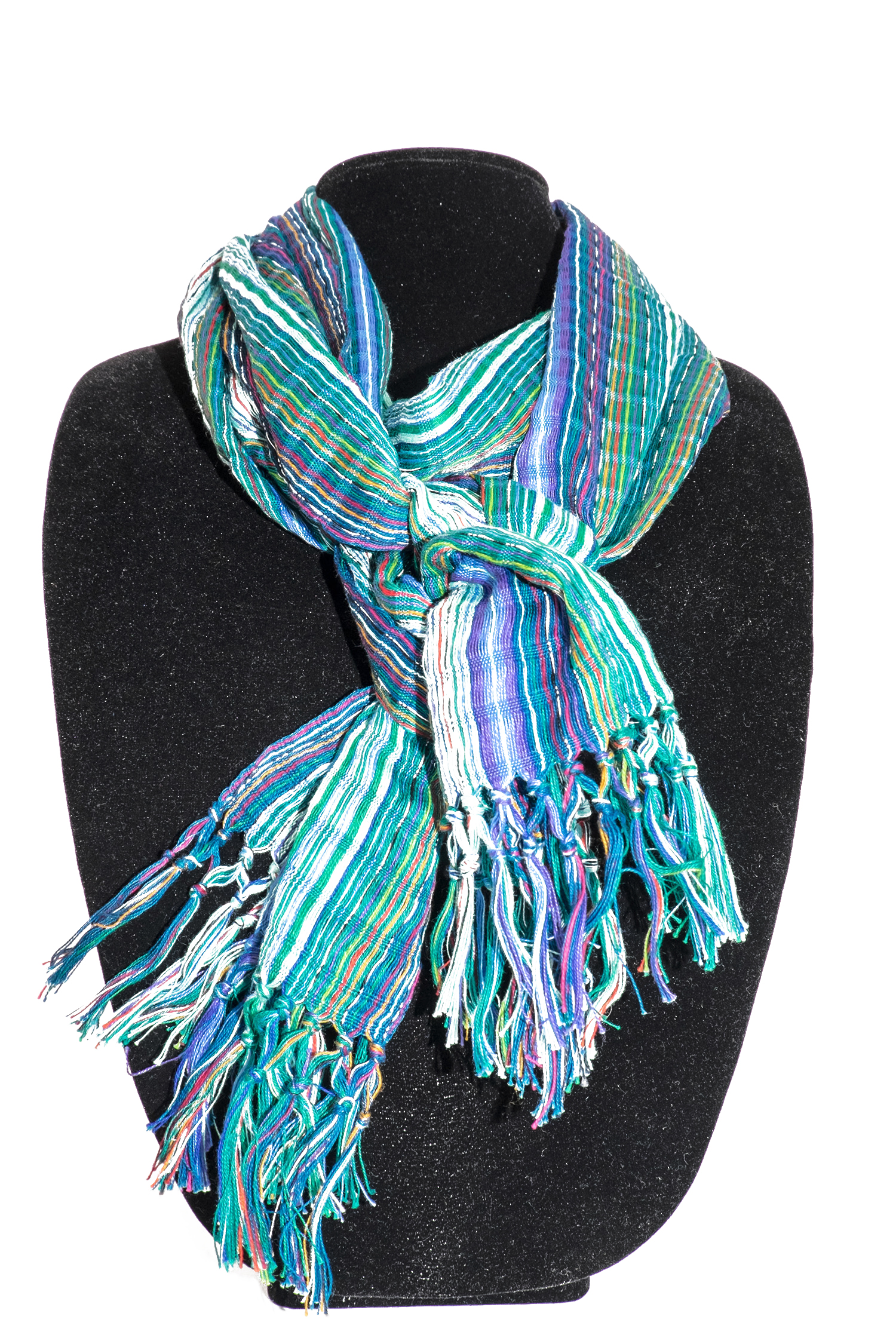 Greens and Purples Cotton Scarf     $19.00