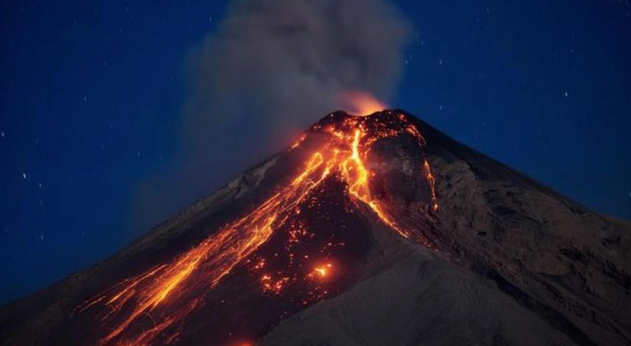 Eruption of Volcan De Fuego on June 3, 2018
