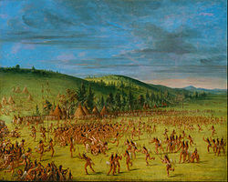 """An Indian Ball Play"" by George Catlin"