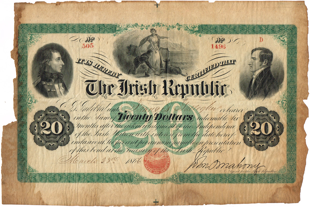 Fenian Bond signed by O'Mahony