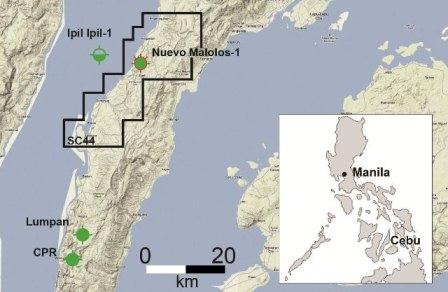 Location of SC44 on Cebu Island in the Philippines