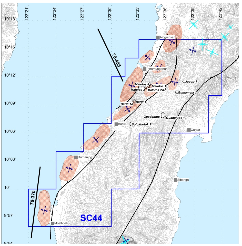 2012 Seismic and Prospects Map