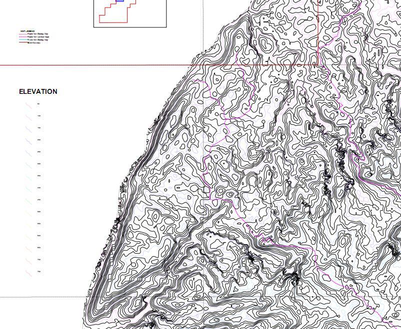 Topographic Map – Aloguinsan Anticlne