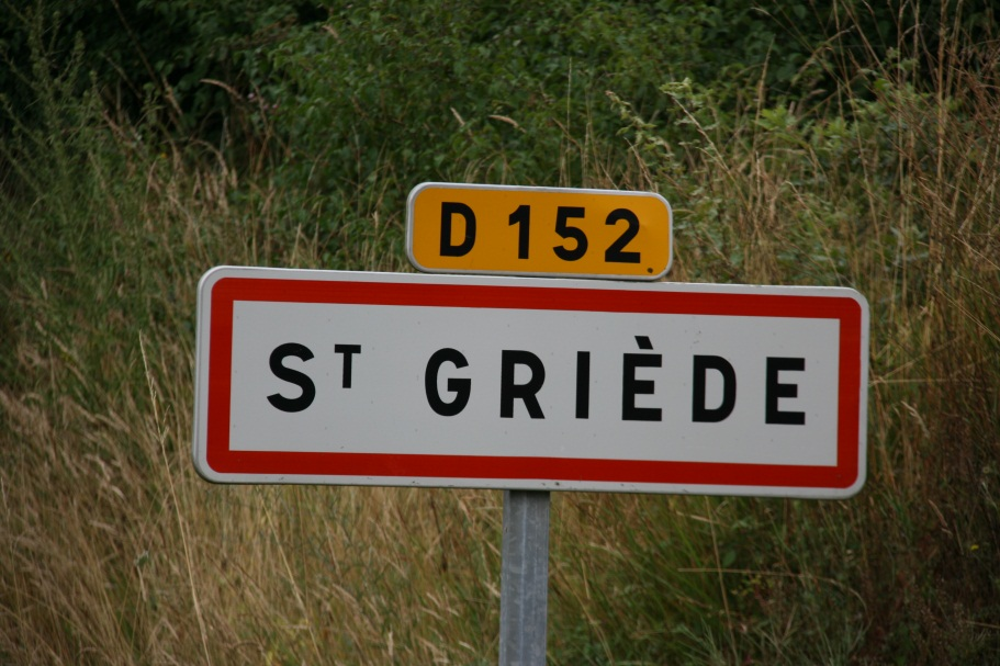 St Griede Location Sign