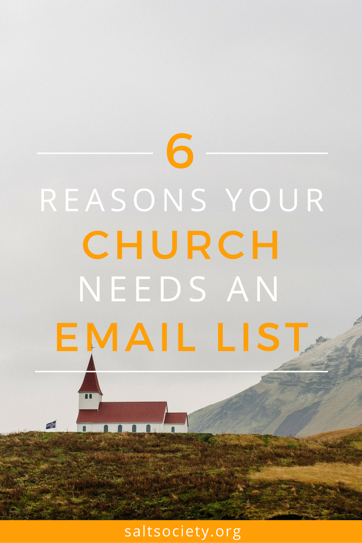 6 reasons your church needs an email list