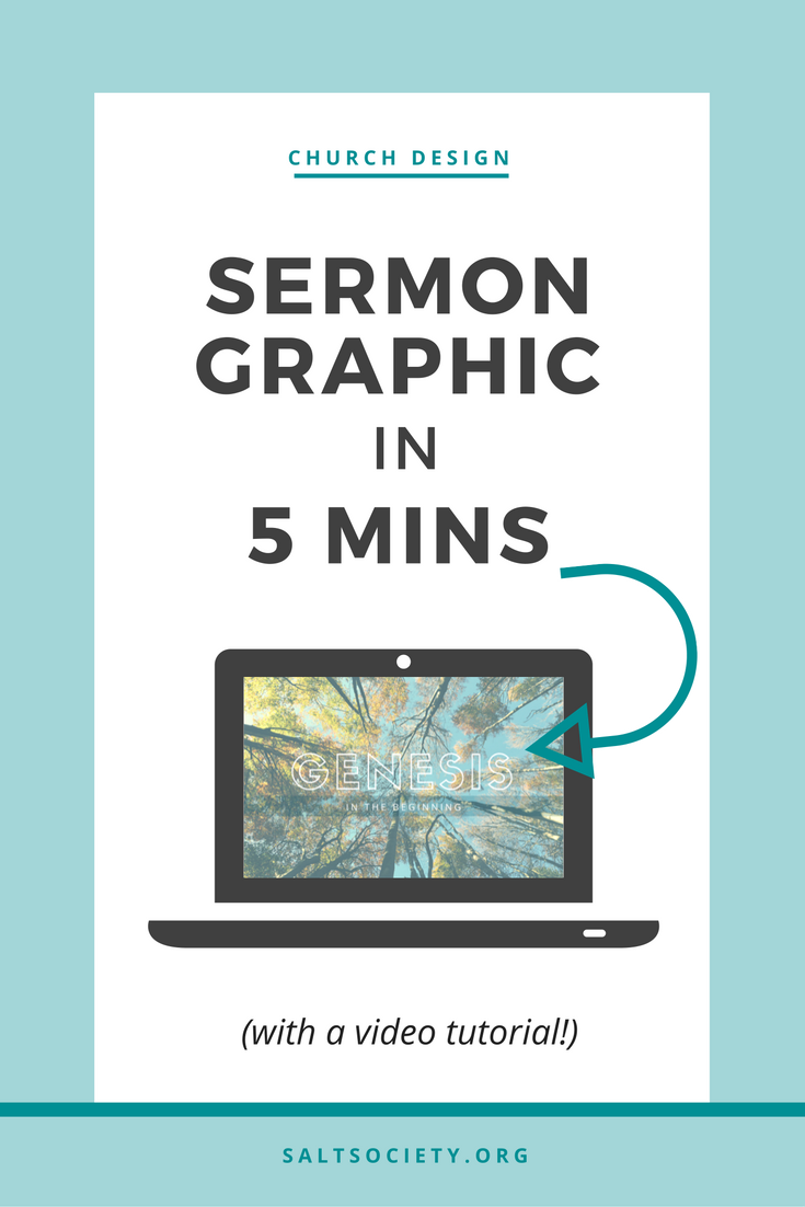 Sermon graphic in 5 minutes