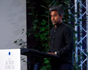 American author and newspaper columnist,   Anand Giridharadas , delivering some hard truths