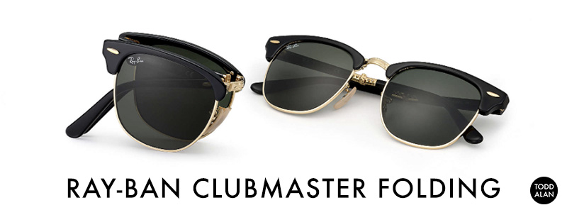 RAY BAN - Clubmaster Folding // $230  -  BUY HERE