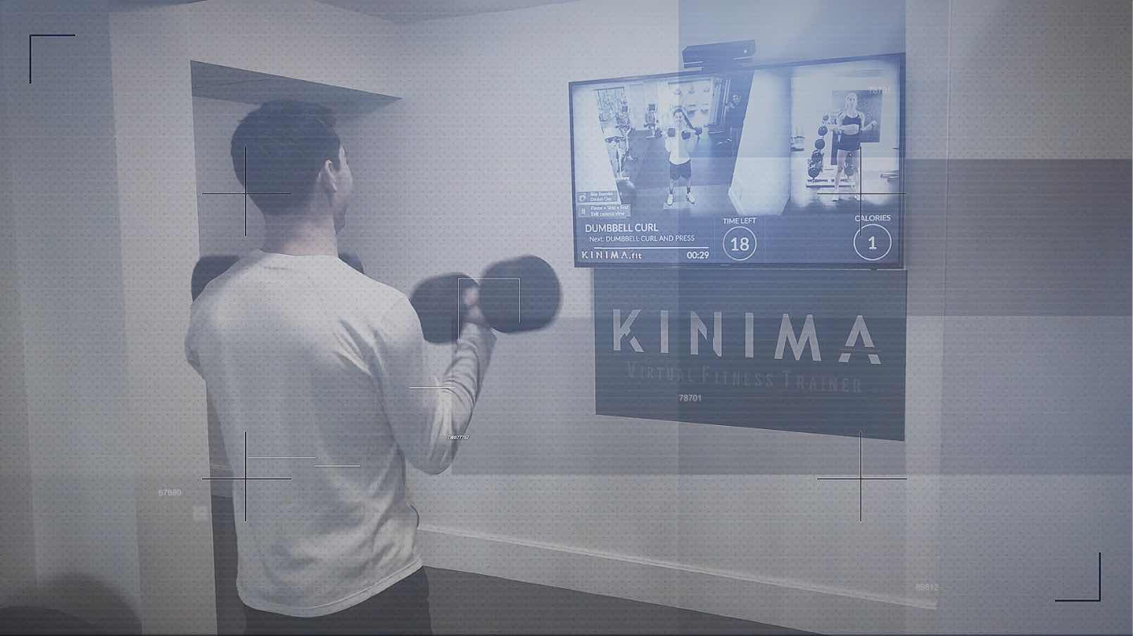 SMART, ADAPTIVE WORKOUTS - Kinima tracks your reps, effort and calories burnt during your workout and uses artificial intelligence to customize your next workout