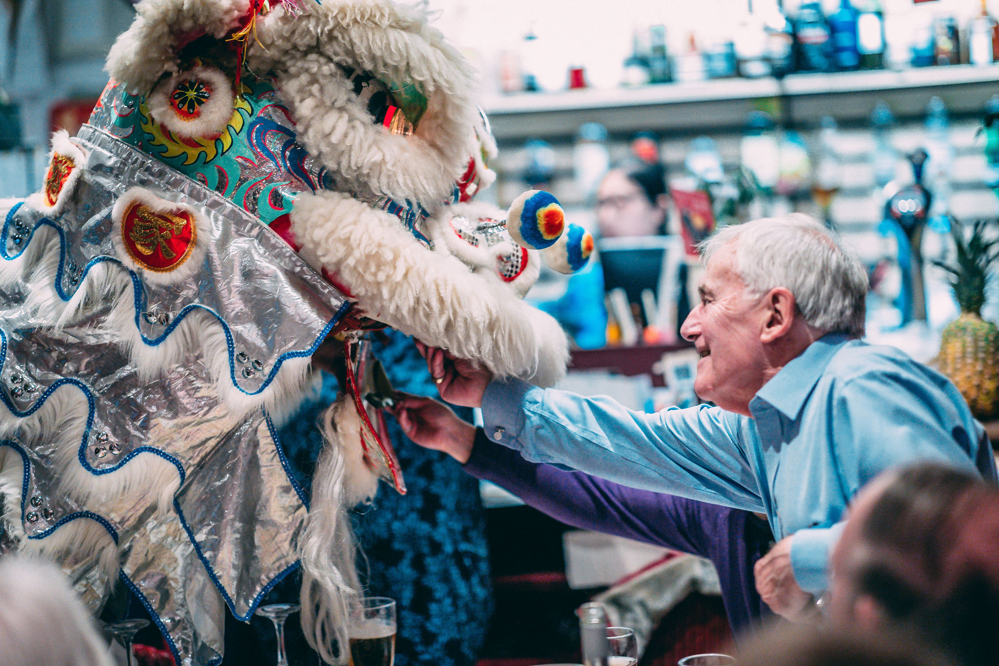 Lion Dance and Customer