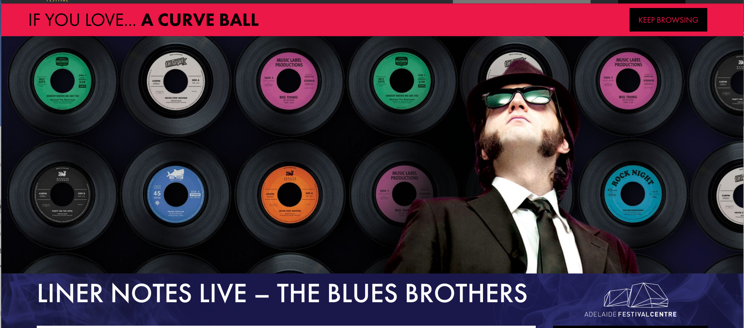 The Blues Brothers at  Adelaide Caberet Festival! ZOMG!  starring Julia Zemiro, Maggie Beer, Andy Griffiths, Dave Graney, Kween Kong and Omar Musa.
