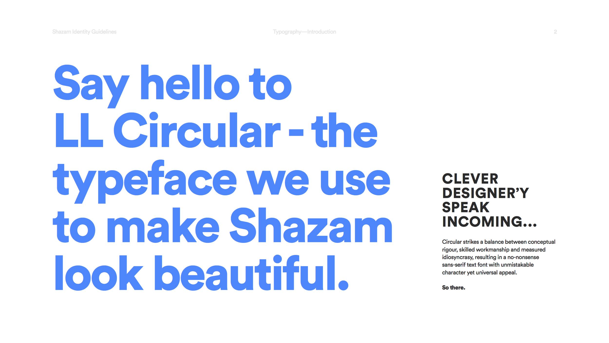 Shazam Typography — Duncan Riley