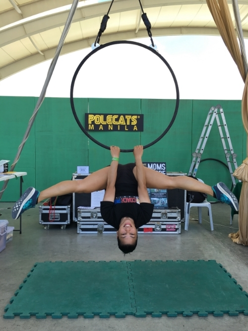 Vanessa of Coach Pro Manila looking awesome on the hoop!