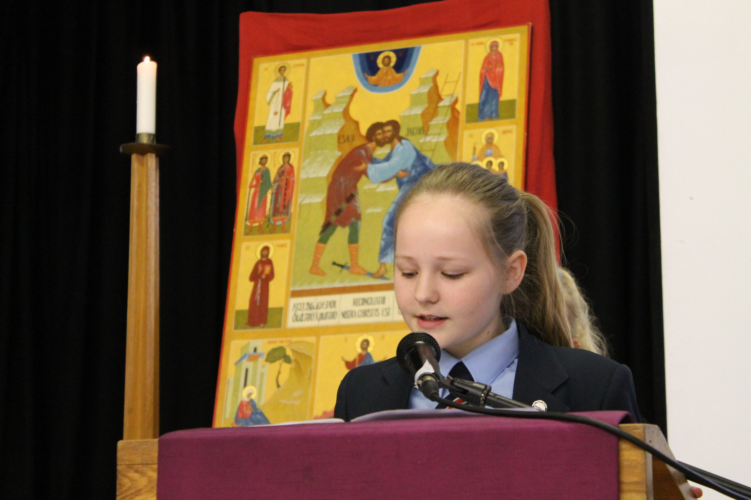 Ella with the Pax Christi Icon of Peace.jpg