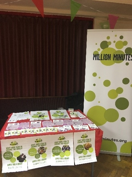 Million Minutes stand at the event