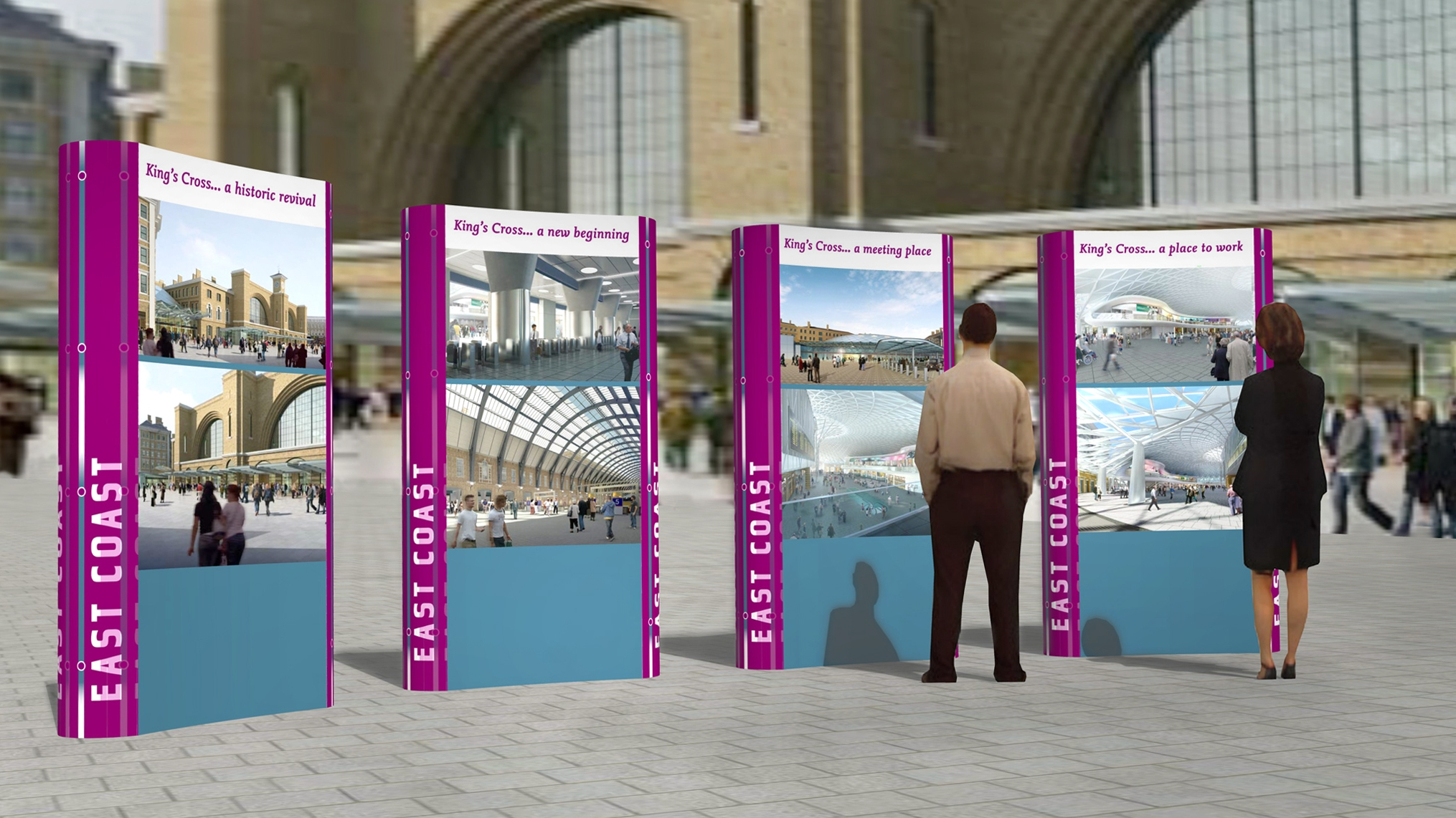 Kings Cross pop-up stand