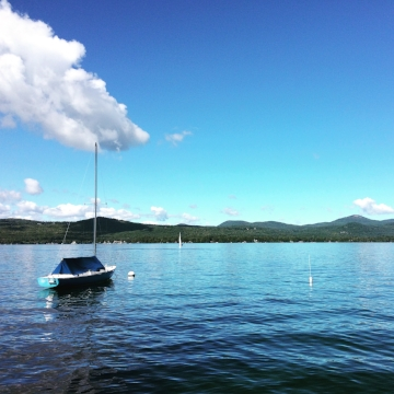 Lake George on a windless day, peacefully delightful