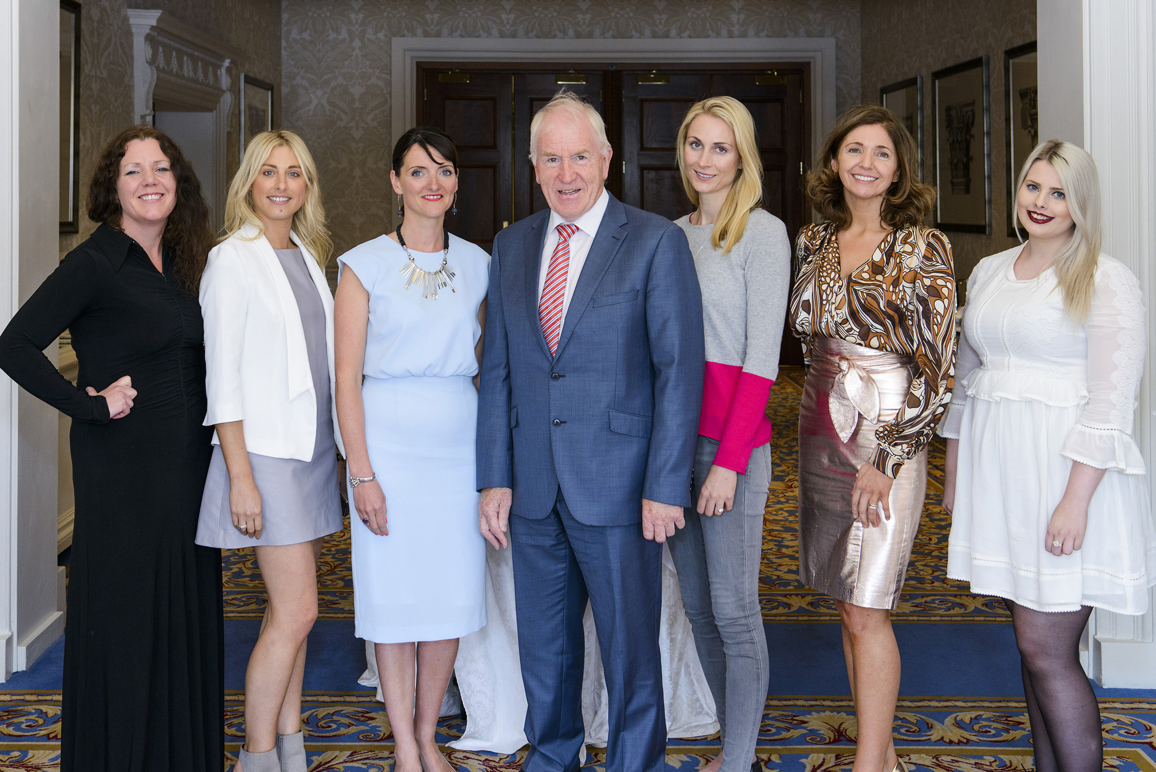 Jennifer Rothwell, Caroline Matthews, Fiona Heaney, Minister Jimmy Deenihan, Lucy Nagle. Caroline Kennelly and Dot :}