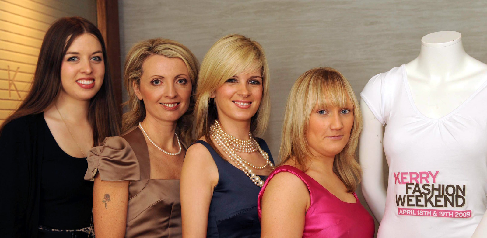 Chloe, Orla, Louise and Lisa at the announcement of Kerry Fashion Weekend in 2008. Pix : Don MacMonagle