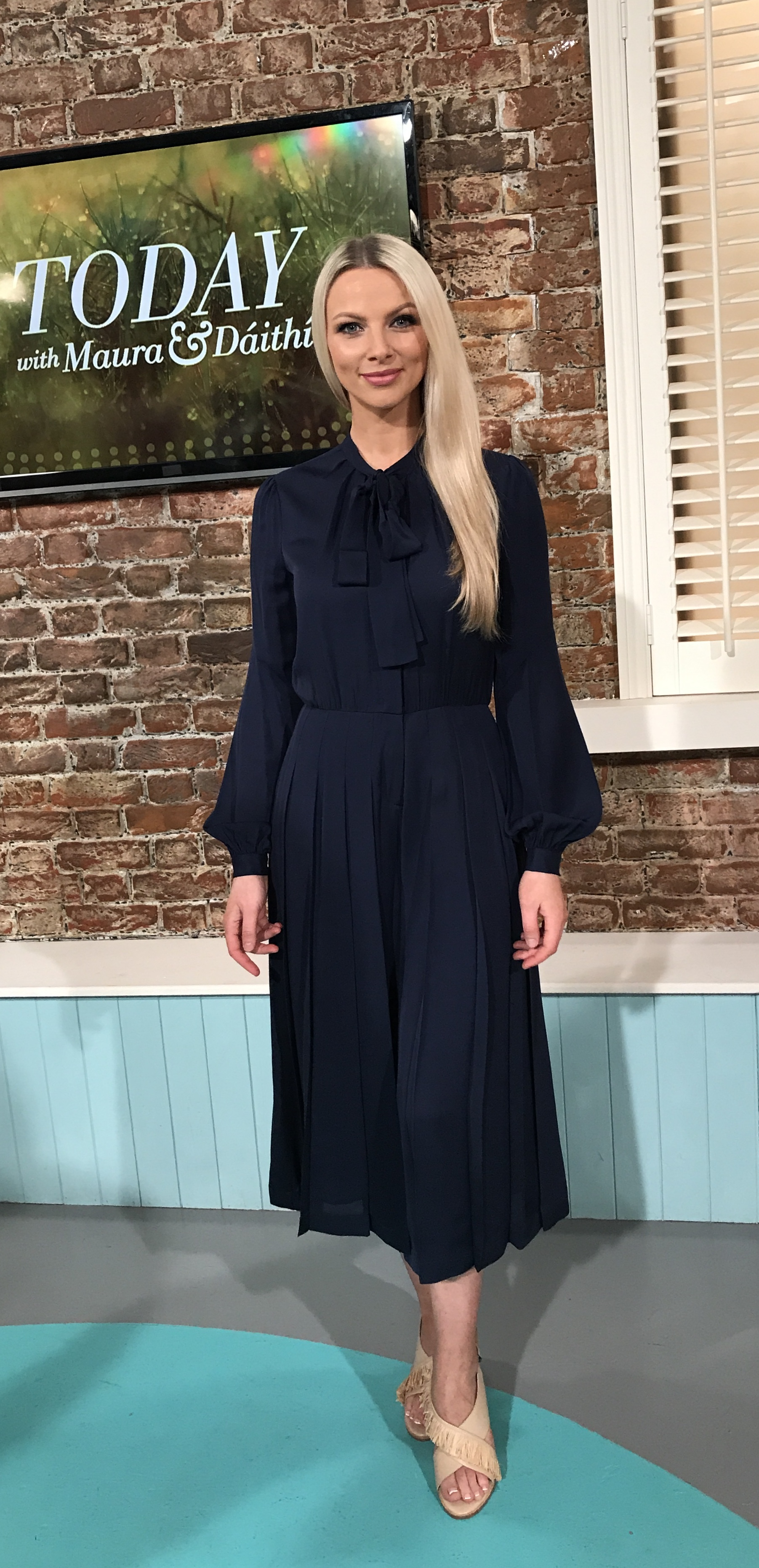 This navy silk culottes suit by Michael Kors at MacBees Killarney effortlessly breaks the rules . . . as it is both timeless and a key piece. (Modelled by Maeve at Upfront models. Remember rules are meant to be broken !