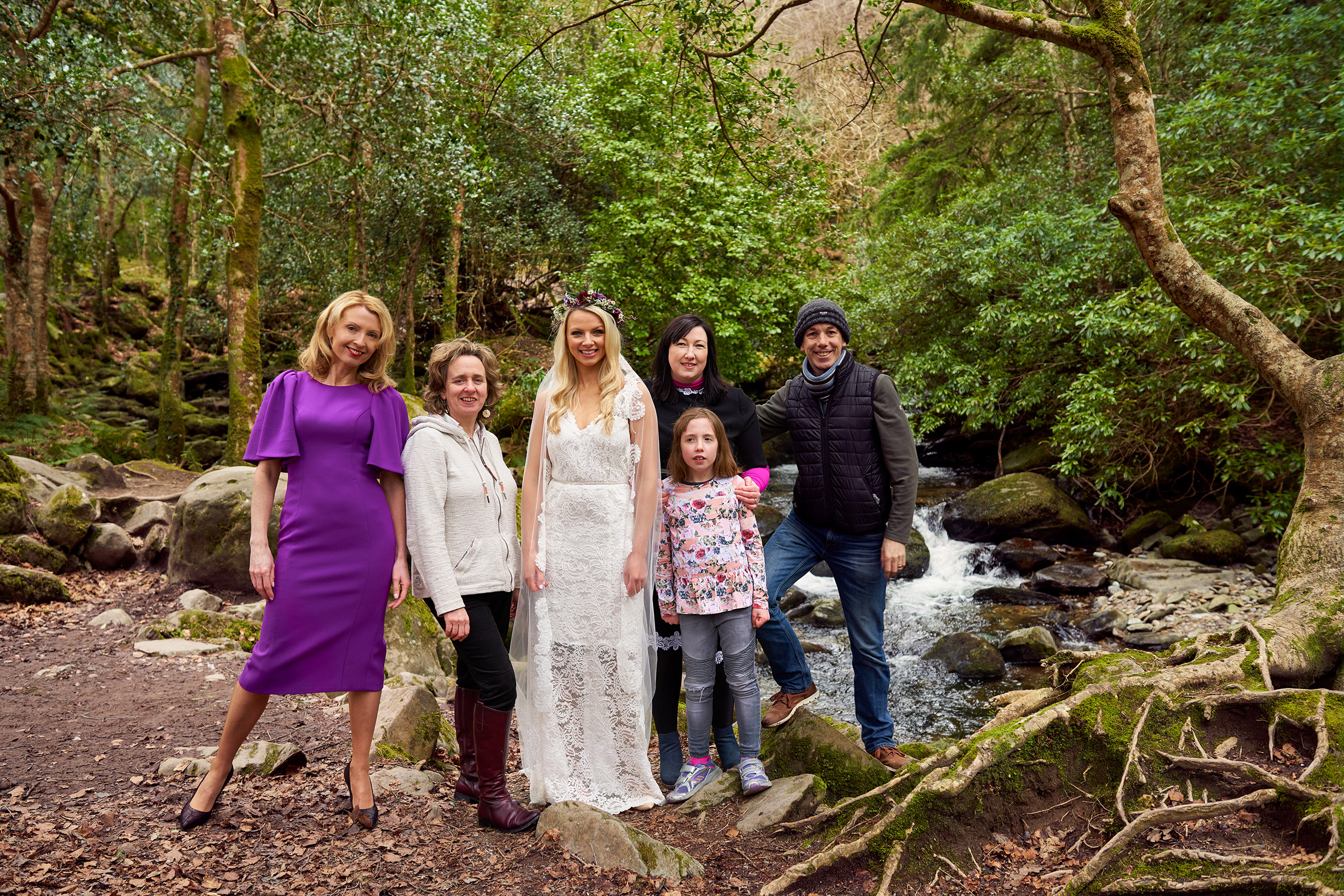 That's a wrap ! Team shot at the end of our launch shoot in the magnificent setting of Torc Waterfall, Killarney, Co. Kerry.  Photo : Barry Murphy
