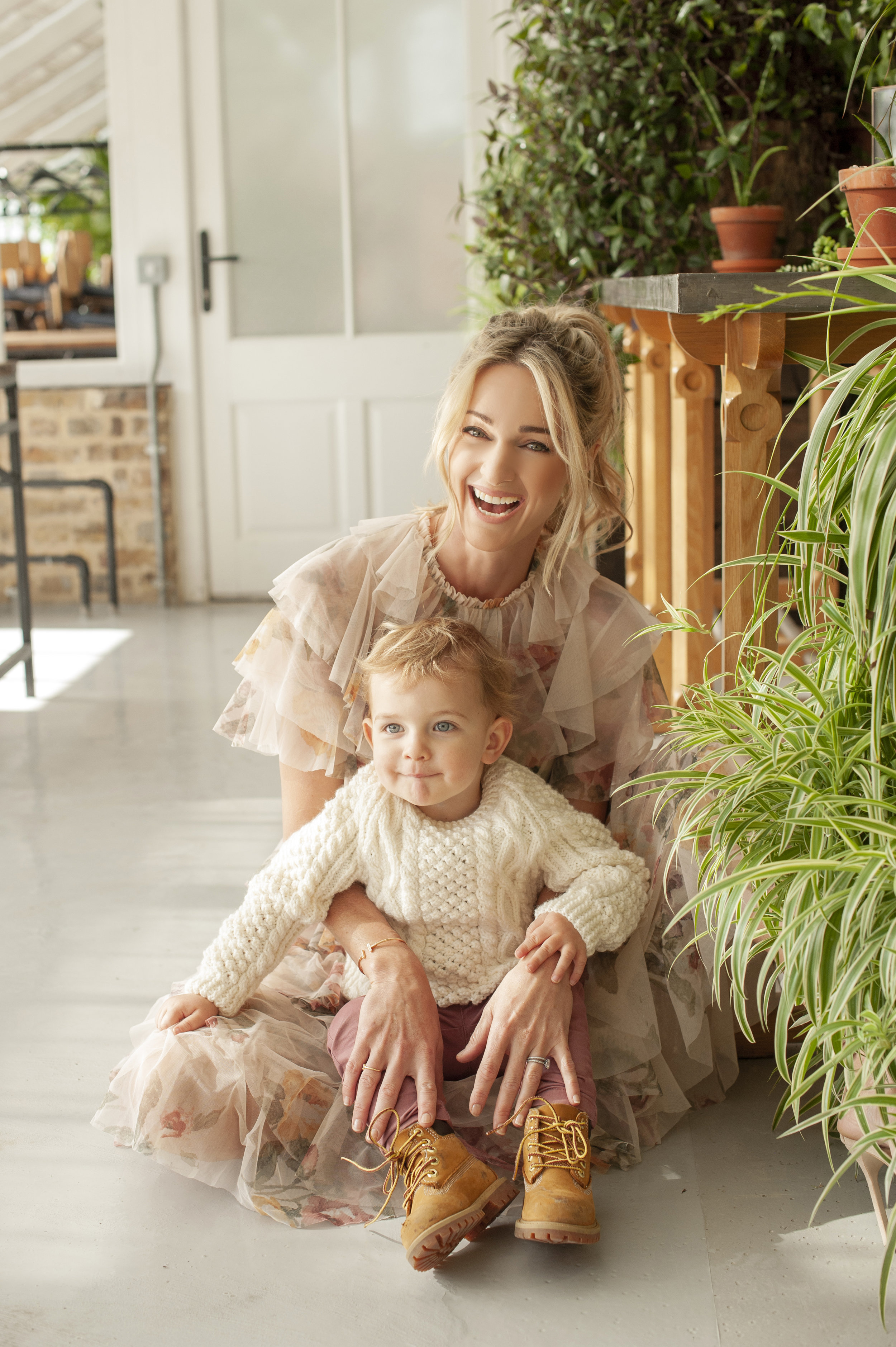 Storm and her adorable son Cooper   (Photo Credits: Lili Forberg, Styling Orla Diffily. Make up: Georgios Tsantirakis, Lancome, Hair Sarah O'Brien. Production : Jane Lundon for RSVP Magazine)  Storm's dress is by Needle & Thread at Brown Thomas Cork. Cooper's look is his own :}