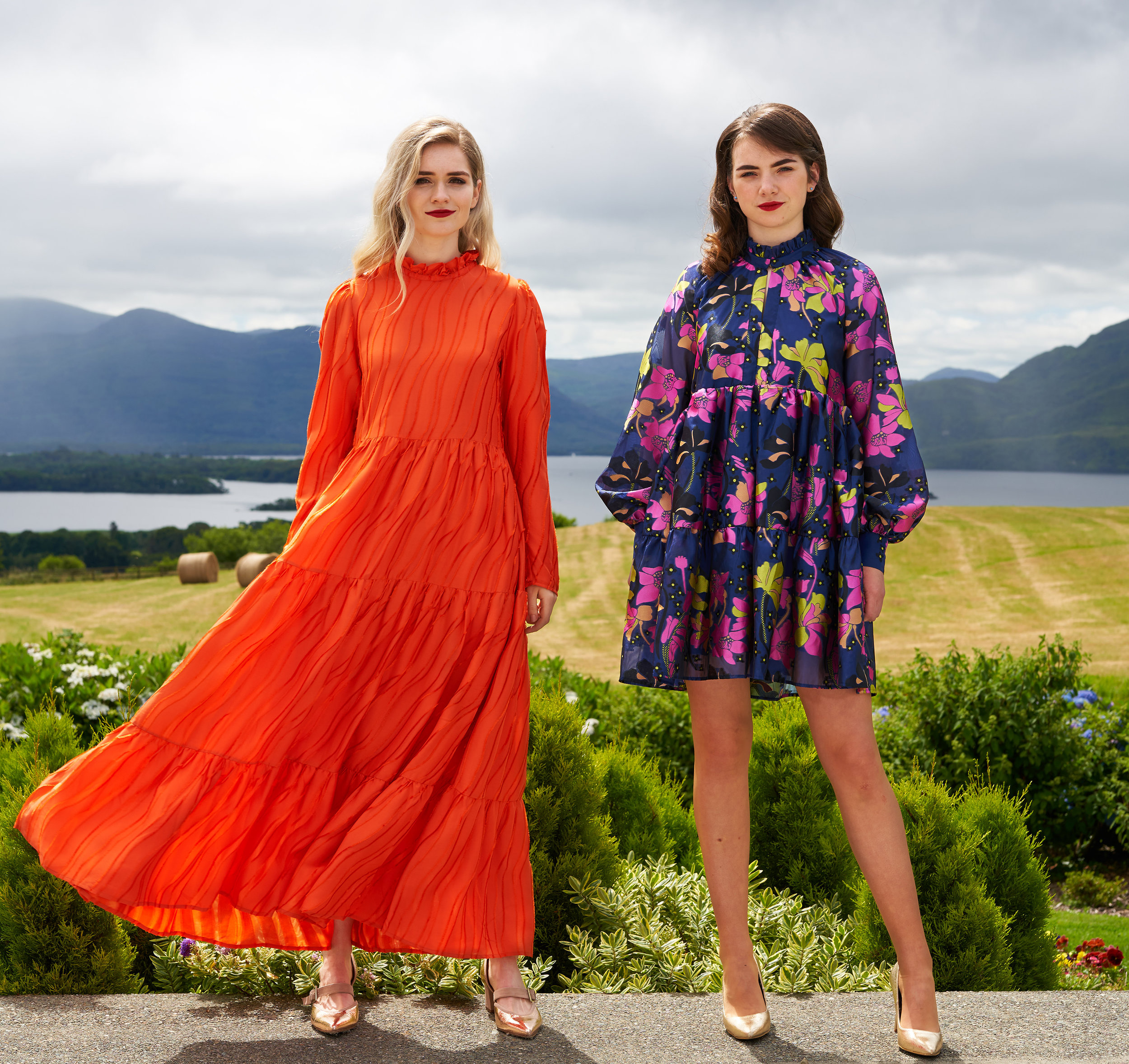 Fiona and Sophie wear new in looks from MacBees Killarney as styled by Orla Diffily. (Photo credit: Barry Murphy)