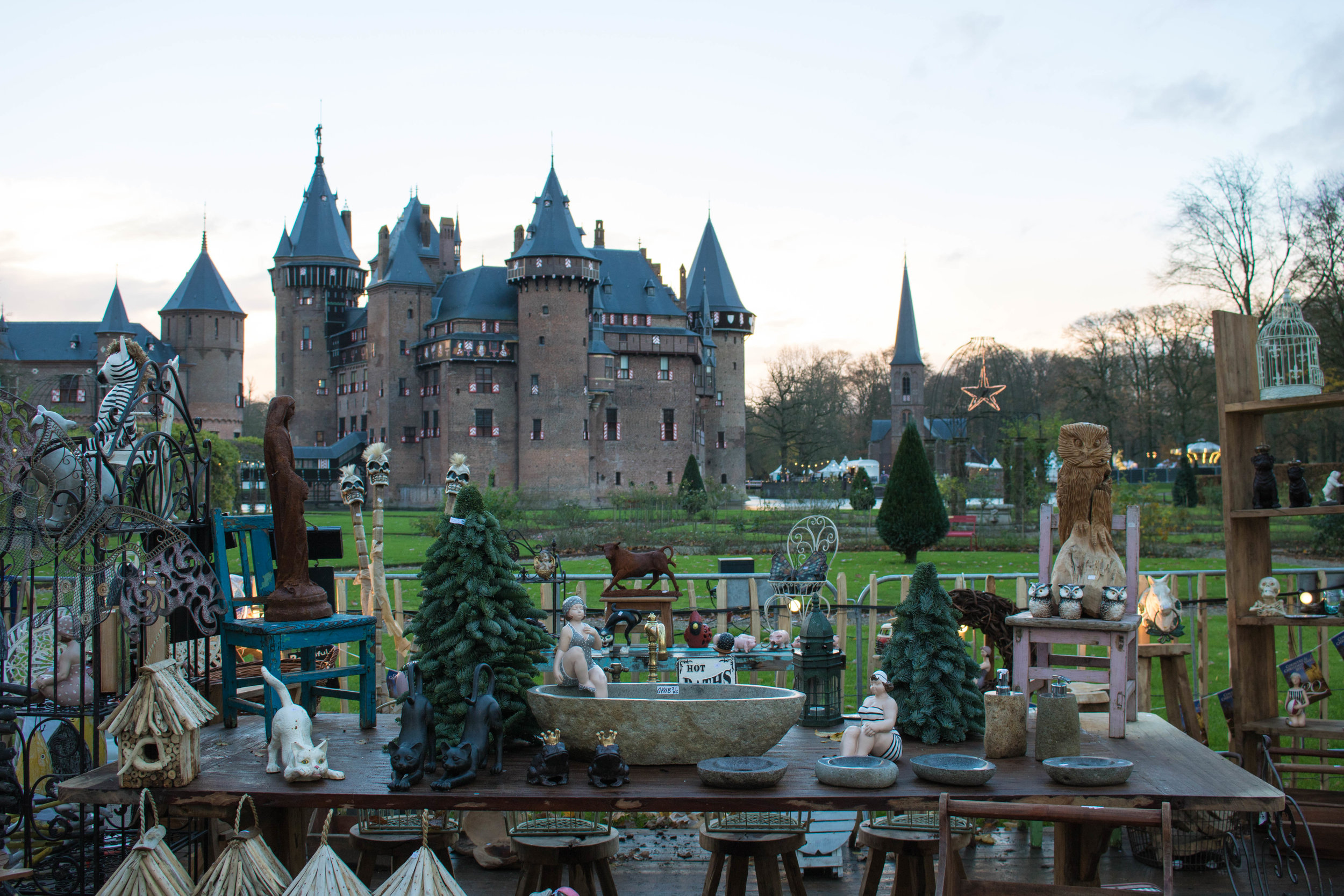 Fairy tale view of the castle.