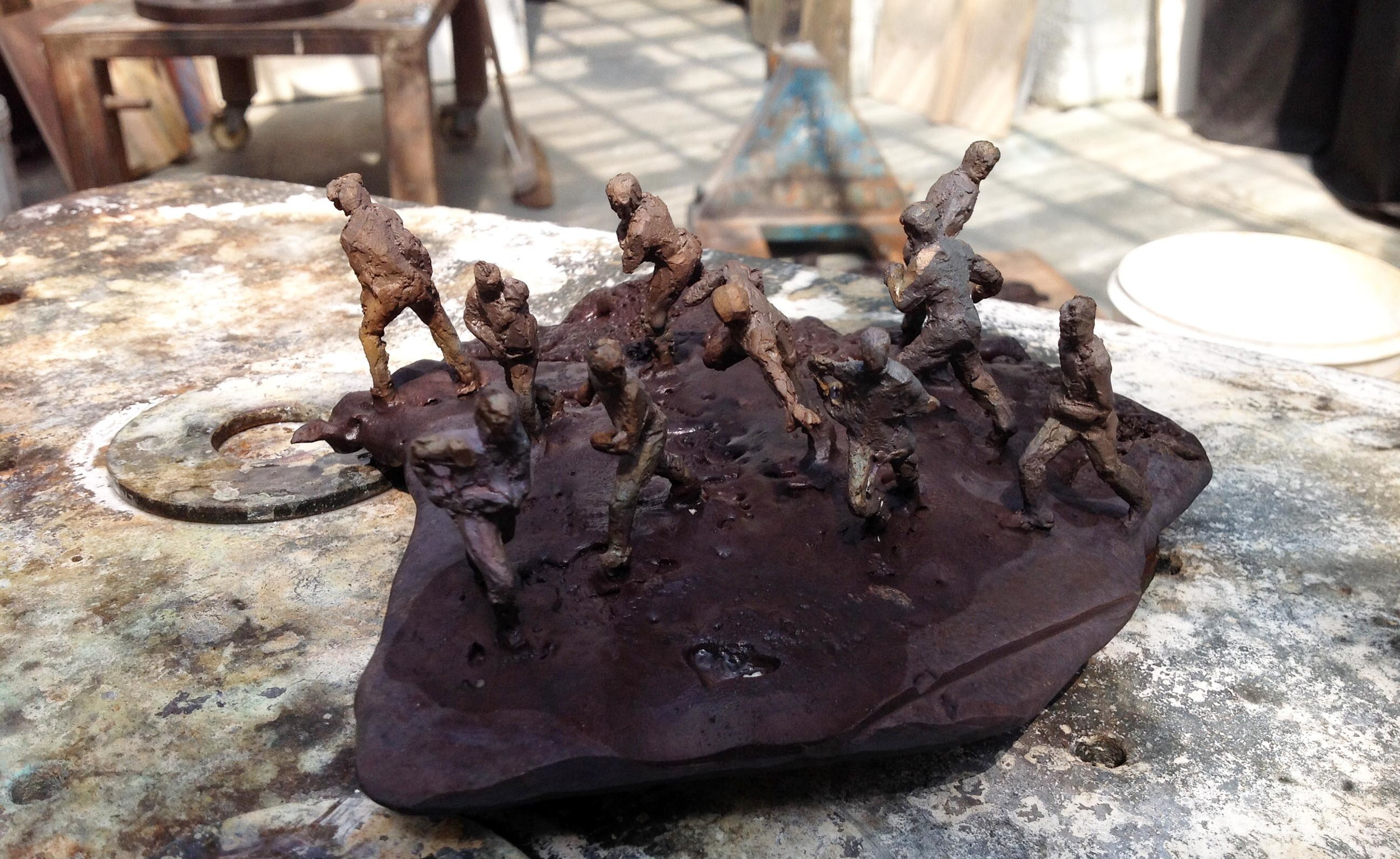 'CLUSTER F*CK'(material: bronze)*human emergence theory