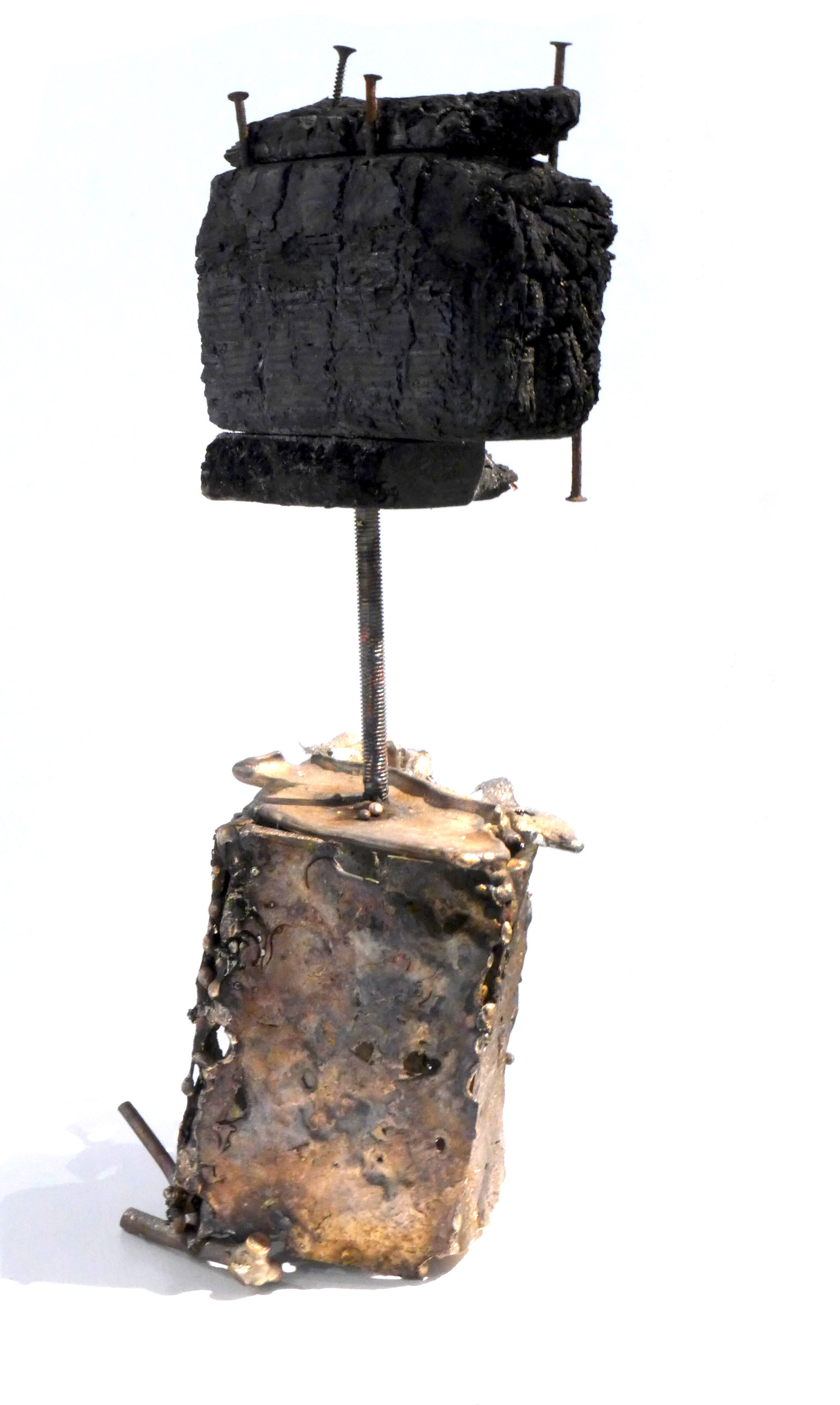 'REMNANT OF DREAMS' (material: bronze and charred Euro pallet)