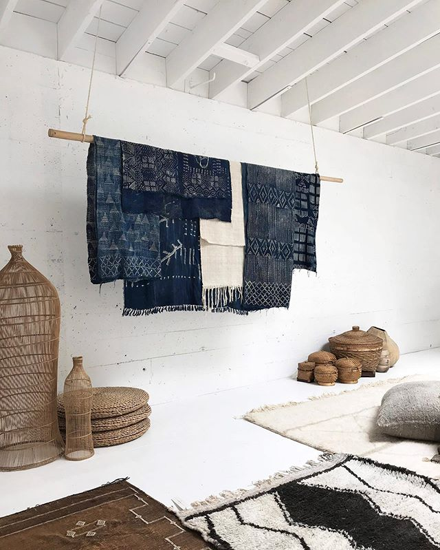 Meanwhile this Sunday in The Pacific Northwest:  we are hosting a pop-up with the EŸN VAS wardrobe, shoes, and collected home goods - like these indigo textiles from Mali - in an experimental creative space we've designed, @vessel_space... we'll be joined by some lovely local creators and growers like @notary__ceramics, @ariumbotanicals,  @celeste.tseden, @aesthetetea and others.  If you're in the PNW please stop by for a tea and to experience this otherworldly space. .  Sunday, June 2nd, 2-7pm 1227 SE Stark St Portland OR 97214